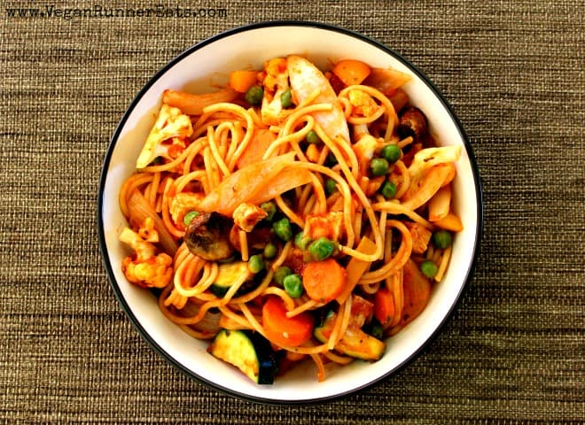 Easy vegan pasta primavera recipe