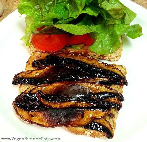 Portobello Mushroom Bacon BLT Sandwich