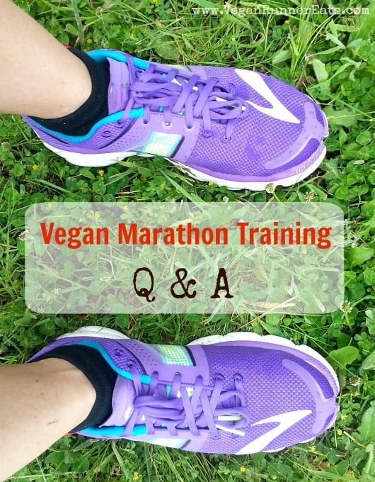 Vegan Marathon Training Q & A - most frequently asked questions with answers from my experience
