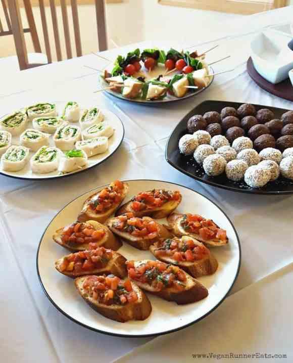 Vegan baby shower food and menu ideas