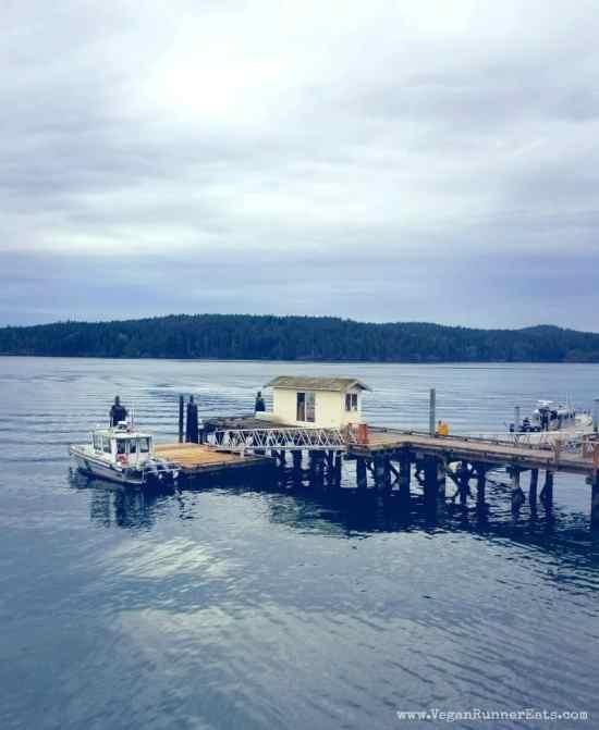 Ferry landing on Orcas Island | Vegan traveling on San Juan Islands