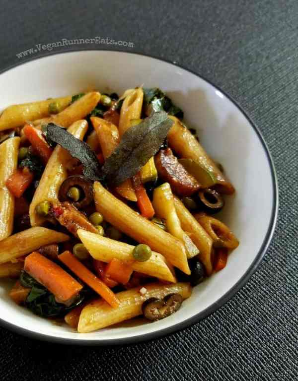 Easy vegan pasta recipe - Italian-inspired vegan Balsamic Pasta