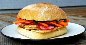 Banh mi chay sandwich with tofu - easy vegan recipe