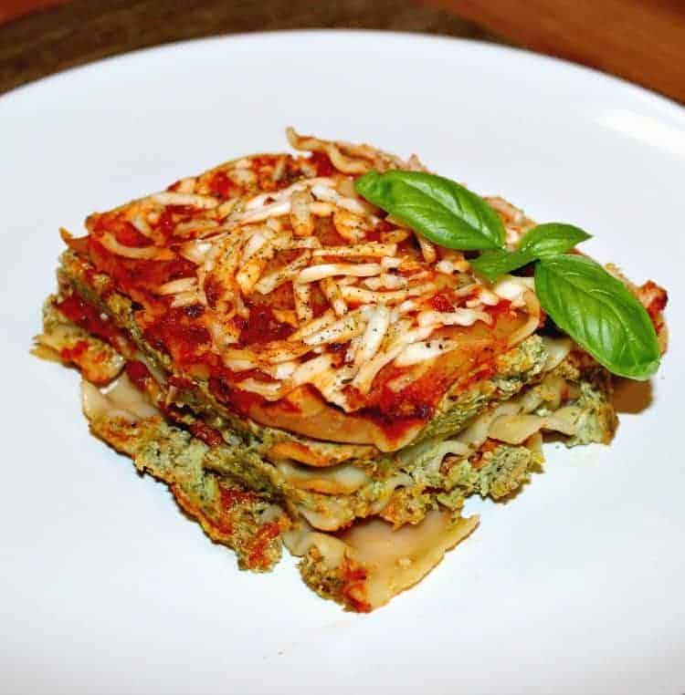 Classic vegan lasagna recipe with tofu and kale filling