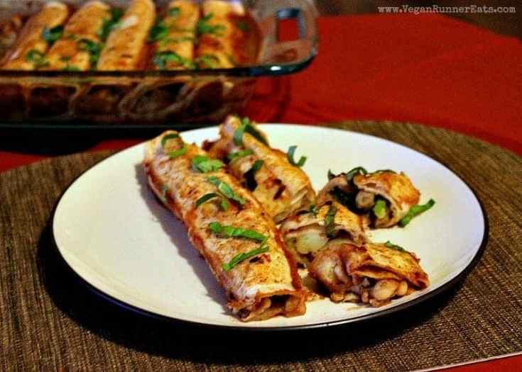 Veggie-Loaded Vegan Enchiladas
