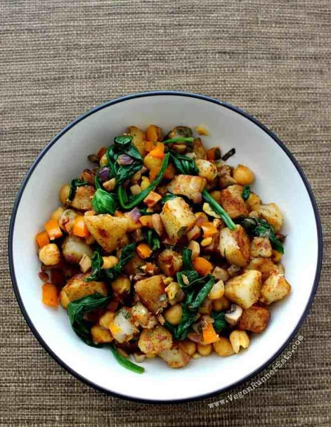 Warm potato salad recipe - plant-based vegan mayo-free potato salad recipe