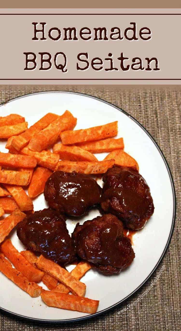 BBQ seitan recipe with homemade BBQ sauce
