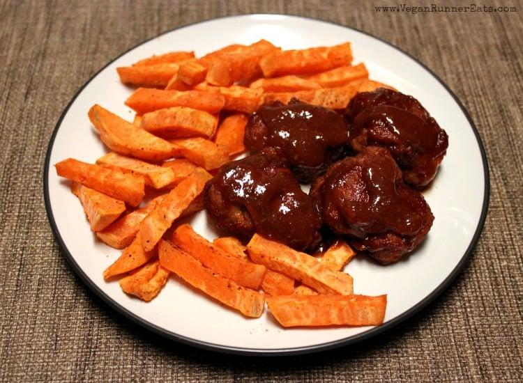 BBQ seitan recipe with homemade barbecue sauce