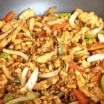 New Recipe: Vegan Fajita Filling with Soy Curls, Peppers and Onions