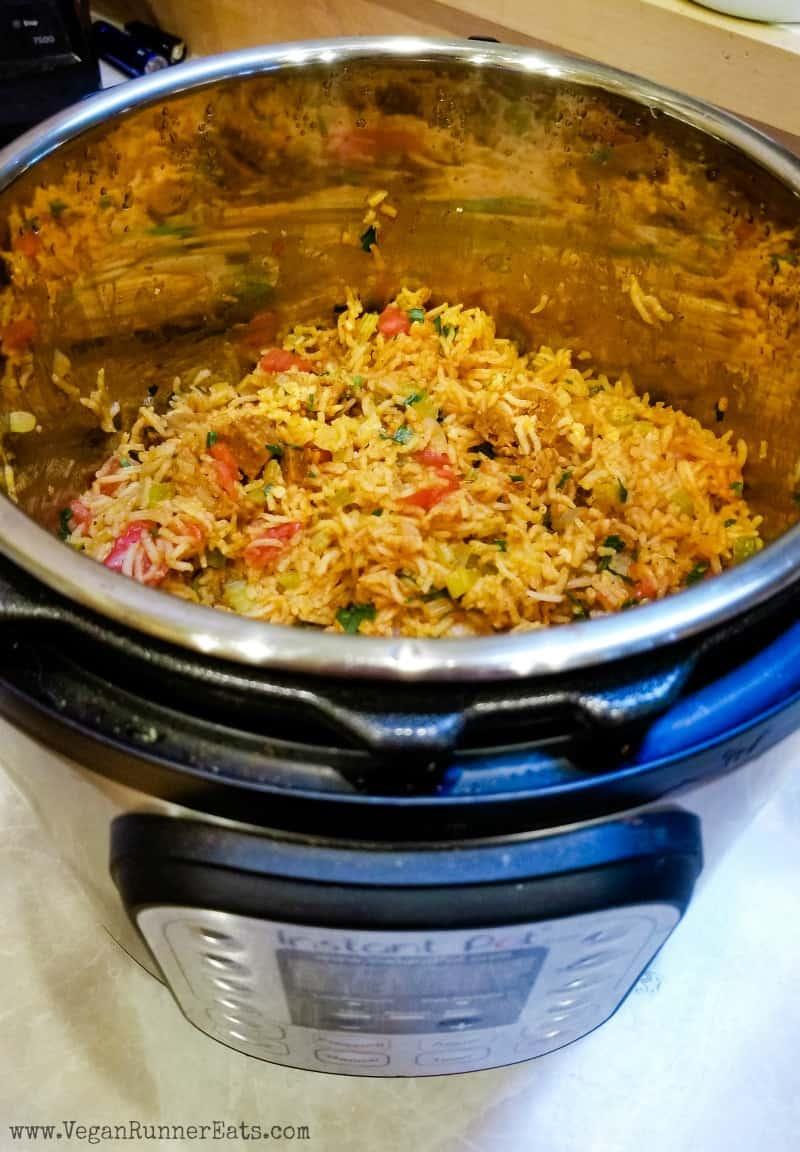 Vegan Jambalaya Recipe - made in the Instant Pot