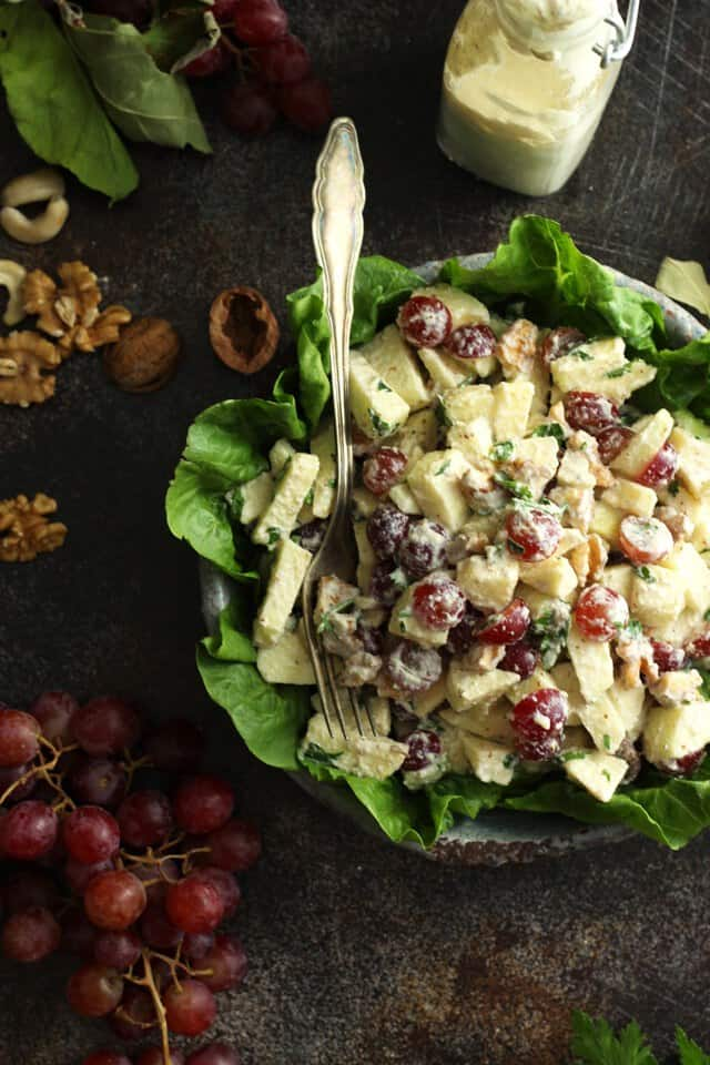 Healthy Vegan Waldorf Salad
