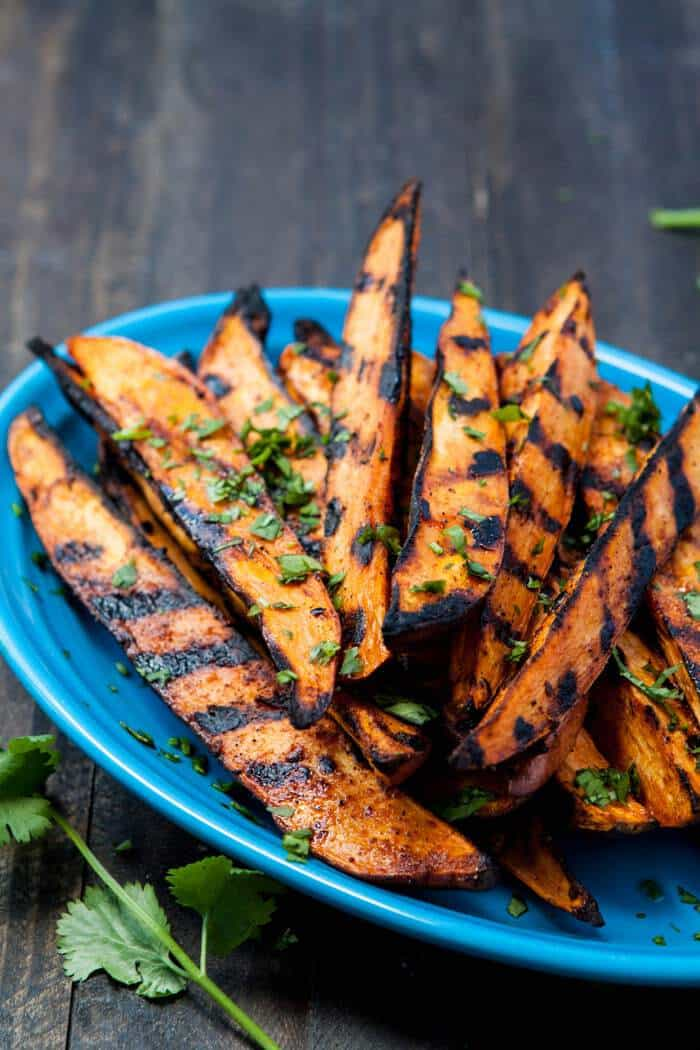Smokey Grilled Sweet Potato Fries