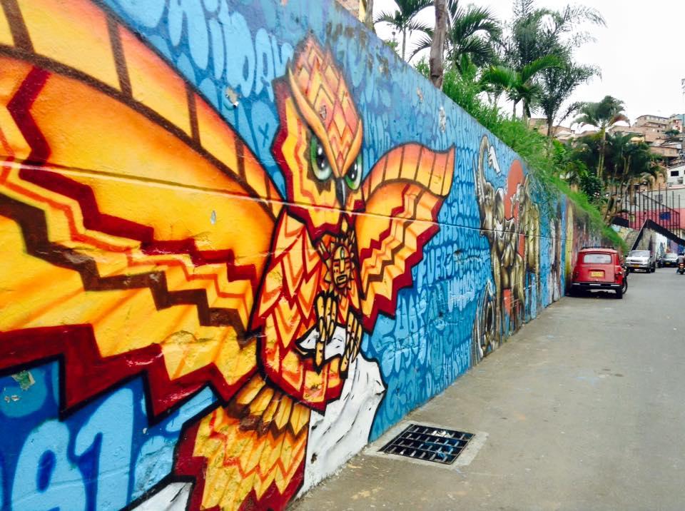 Street art in Comuna 13, Medellin