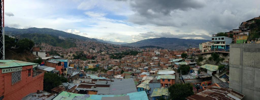 Colourful rooftops of Comuna 13, Medellin