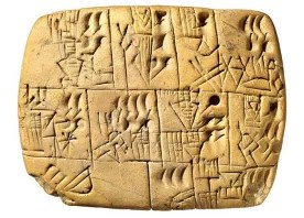 A relic of history, this tablet shows the tradition of drinking beer