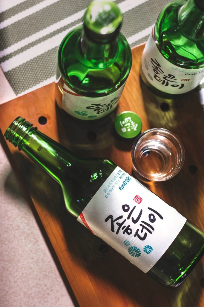Somaek - a concoction of beer and soju (Korean spirit that is vegan!)