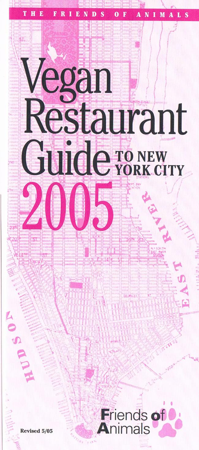 Throwback Thursday: 2005 Vegan Restaurant Guide