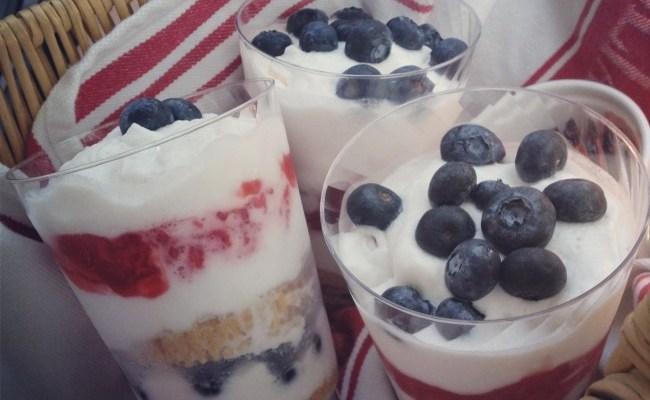 Patriotic Parfaits & Grilled Nectarine-tempeh 'bobs