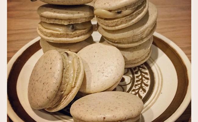 Vegan Chocolate Chip Cookie Dough Macarons