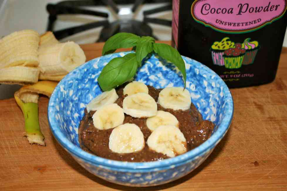 Banana Chocolate Crunch Avocado Pudding