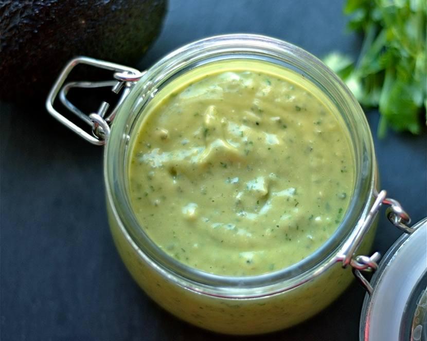 Cilantro-Lime-Jalepeno-Avocado Cashew Sauce
