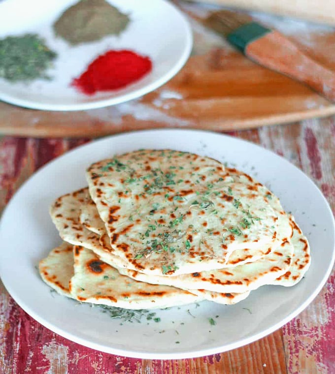 Vegan Garlic Naan