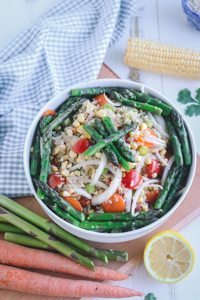 Picture of Chilled Asparagus Salad in White Bowl