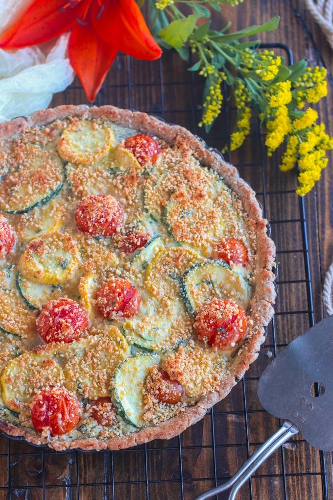 Vegan Tomato Zucchini Tart