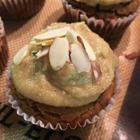 Vegan Sweet Potato Muffins w/ Cashew Cardamom Cream