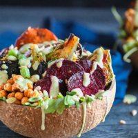 Healthy Sheet Pan Harvest Bowls (WFPB Option)