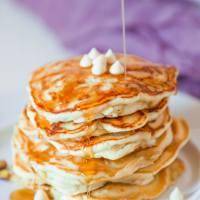 White Chocolate Pistachio Vegan Pancakes