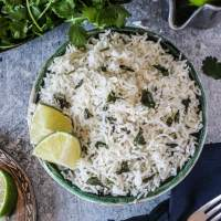 How to Make Cilantro Lime Rice in a Rice Cooker + Video