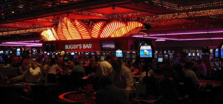 Casino floor action inside Flamingo...