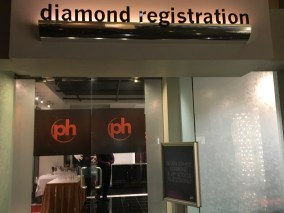 The entrance to the PH Diamond Registration Lounge