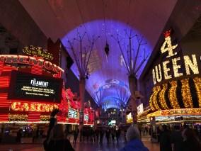 The landing platform for the Zipline across the street between the casinos, and Zoomline riders overhead
