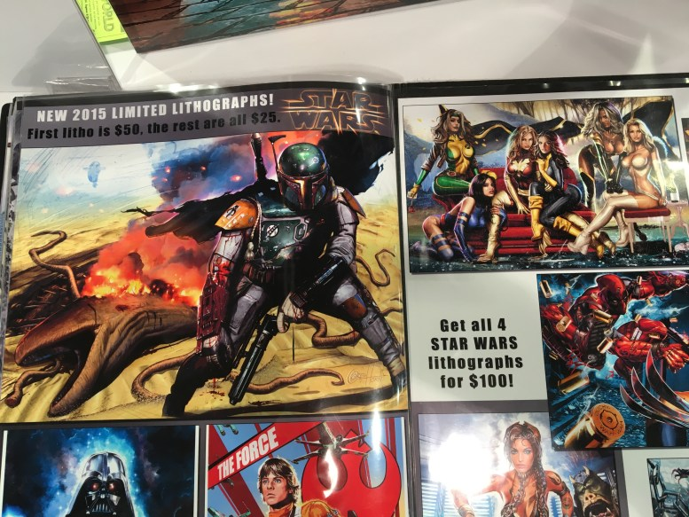 Some of the ridiculously good art that was on sale, sold only at cons