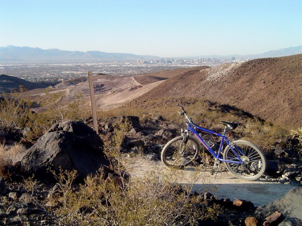 Bike in foothills
