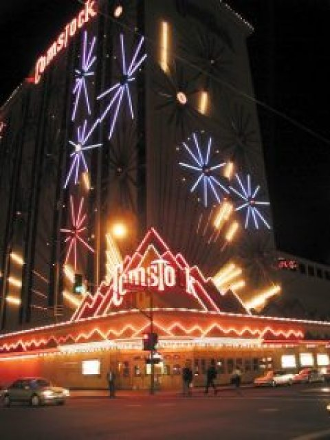One of the neatest features of the Comstock was the neon fireworks show on the exterior of the property.