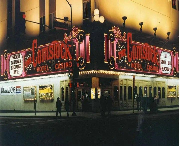 Entrance to the Comstock from 1995. The property closed in 2000.