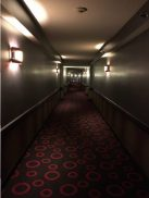 The original resort room hallway.