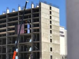 Resorts World Las Vegas, Facade, Construction, June 2017, Vegas Bright, Enclos