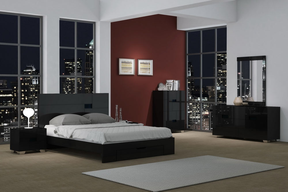 aria lacquer bedroom collection