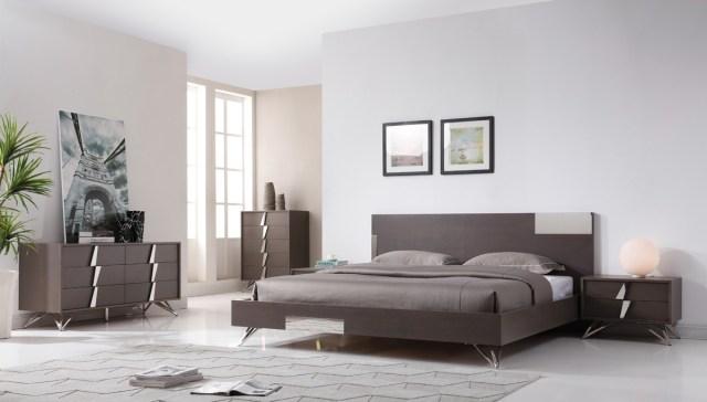 Modrest Nicola Modern Grey Oak & Stainless Steel 4Pc ...