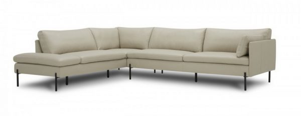sherry modern grey leather sectional collection