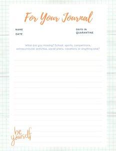 journaling for kids coronavirus