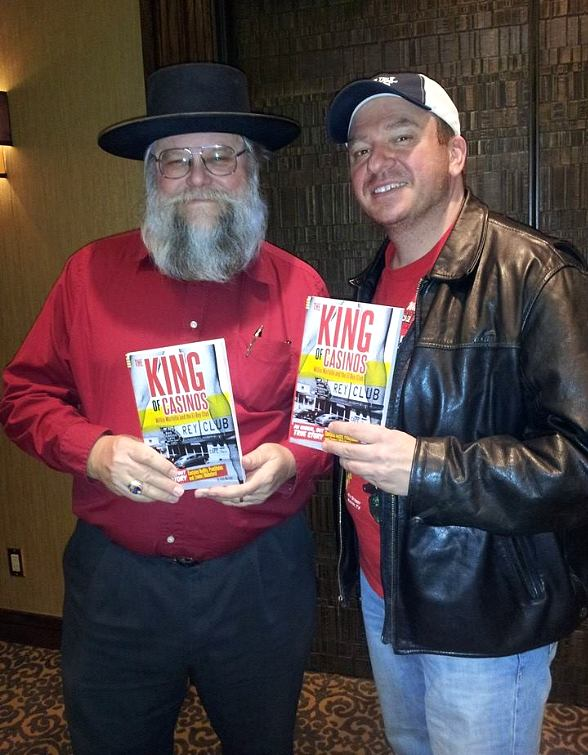 """Pawn Stars history expert Mark Hall-Patton with """"King of Casinos"""" author Andy Martello"""