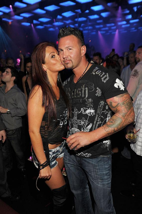 JWoww and boyfriend Roger Mathew at Jet Nightclub at The Mirage