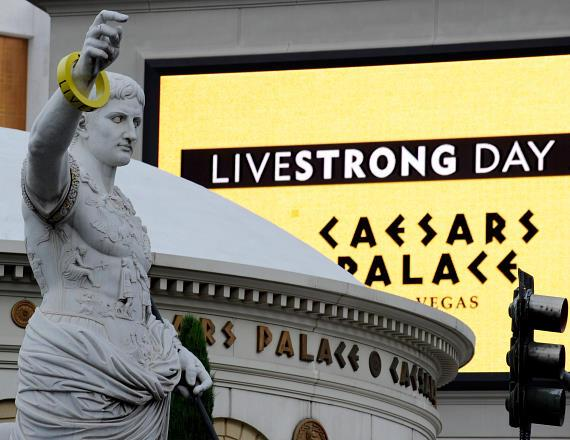 Caesars Palace Las Vegas Honors LIVESTRONG Day by Bringing Awareness to Thousands of Strip Visitors