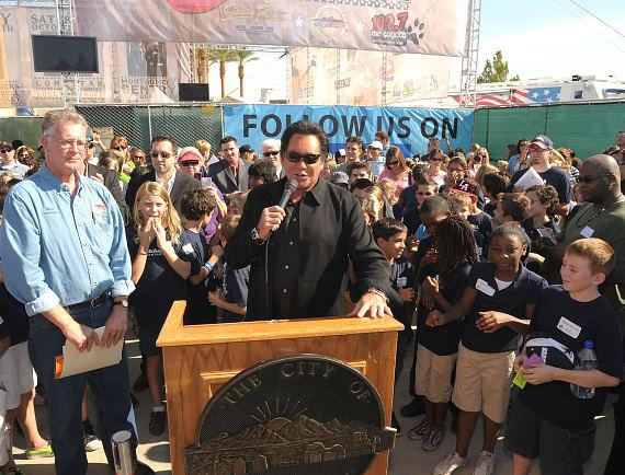 Wayne Newton at Ribbon Cutting Ceremony for Nevada West Fest Benefitting Lili Claire Foundation