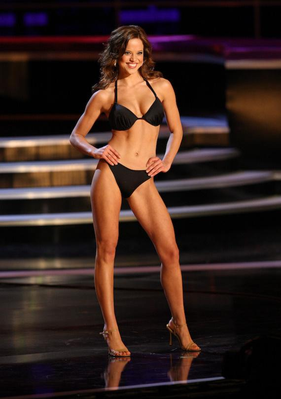 Miss America Katie Stam during the previous night's competition